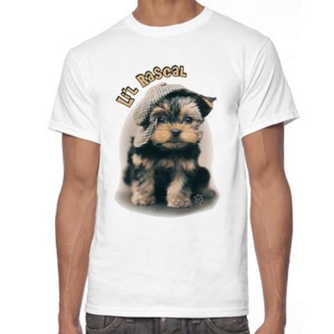 T Shirt Uomo Yorkshire terrier Cucciolo Cane