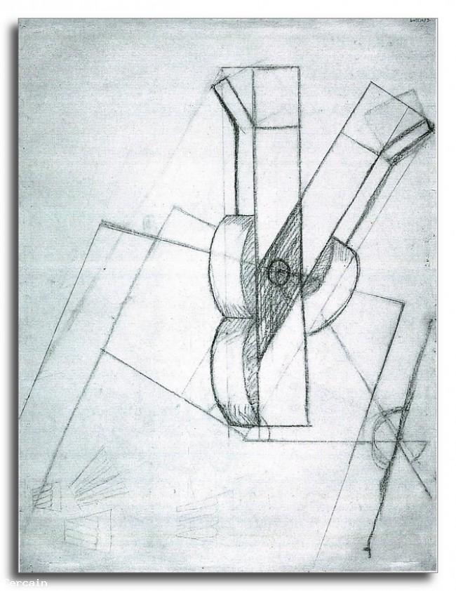 Riproduzione Artistica Chitarra 3 di Juan Gris