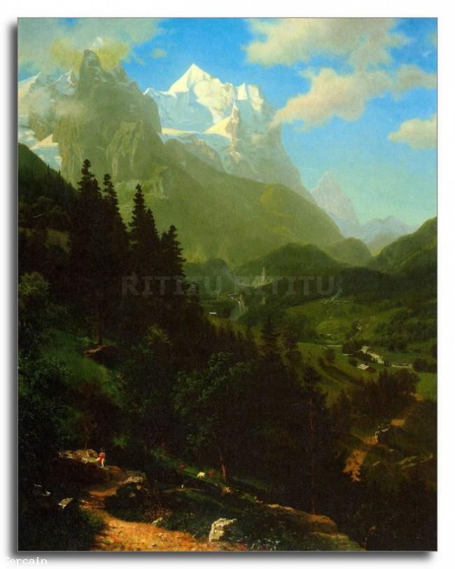 Riproduzione Artistica Cervino da Bierstadt