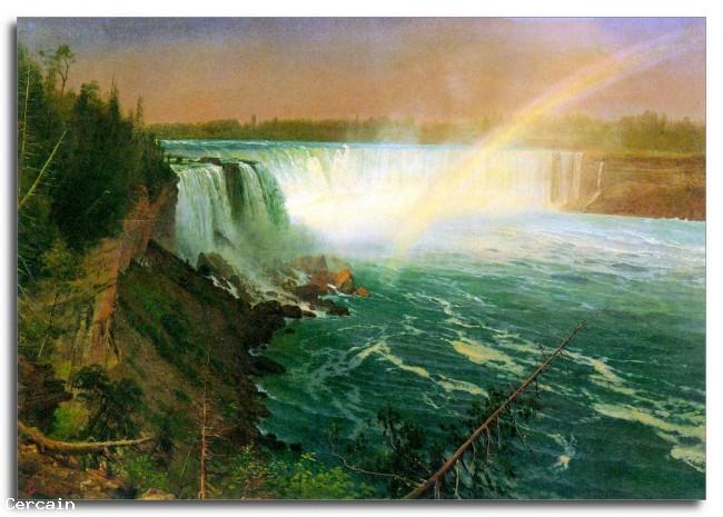 Riproduzione Artistica cascate niagara da Bierstadt