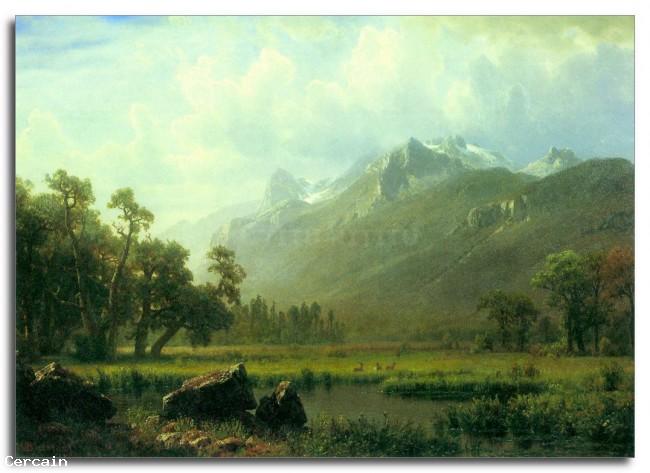 Riproduzione Artistica La Sierra nei pressi del Lago Tahoe California