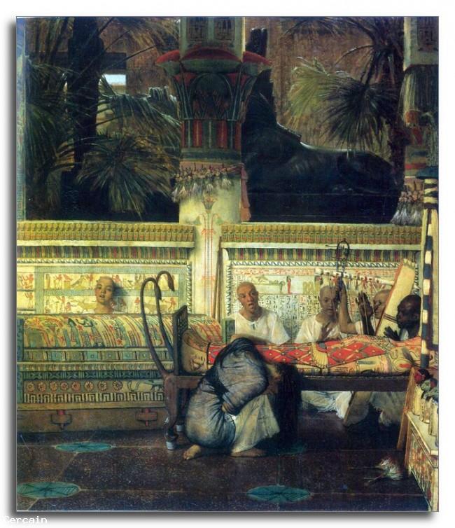 Riproduzione Artistica Una vedova egiziana al tempo di Diocleziano pa