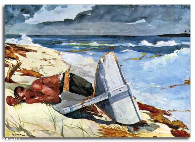 Riproduzione Artistica Dopo il tornado di Winslow Homer
