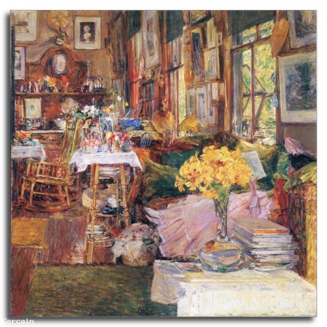 Riproduzione Artistica La stanza dei fiori di Hassam