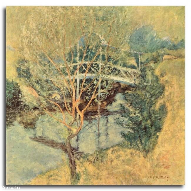 Riproduzione Artistica Il ponte bianco di Twachtman