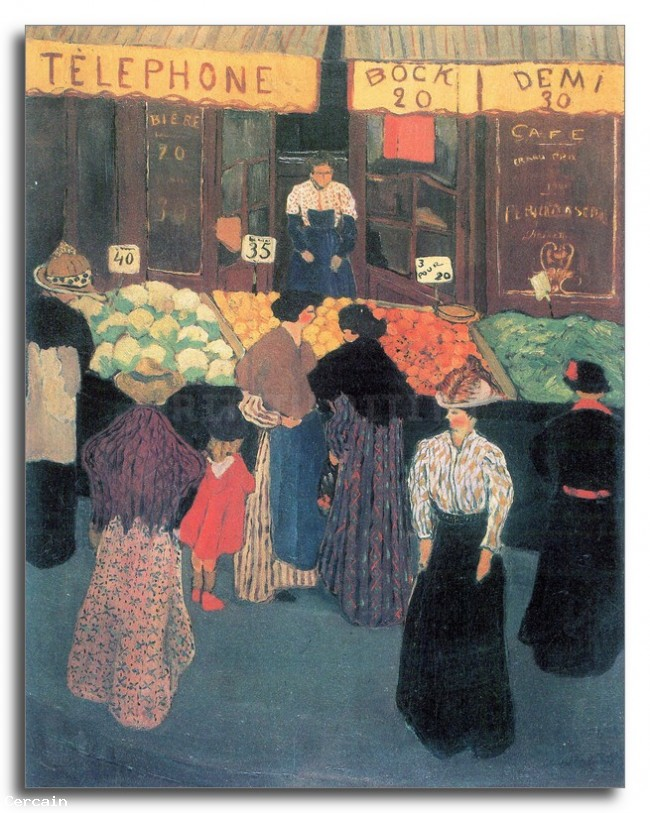 Riproduzione Artistica Al mercato di Felix Vallotton