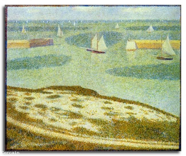 Riproduzione Artistica ingresso a Port en Bessin da Seurat