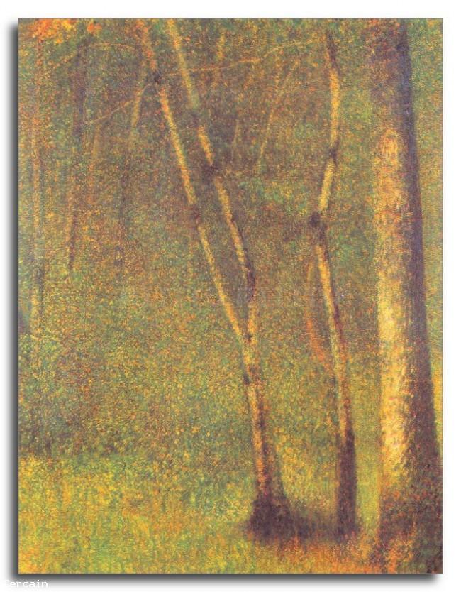 Riproduzione Artistica Foresta in Pontaubert da Seurat