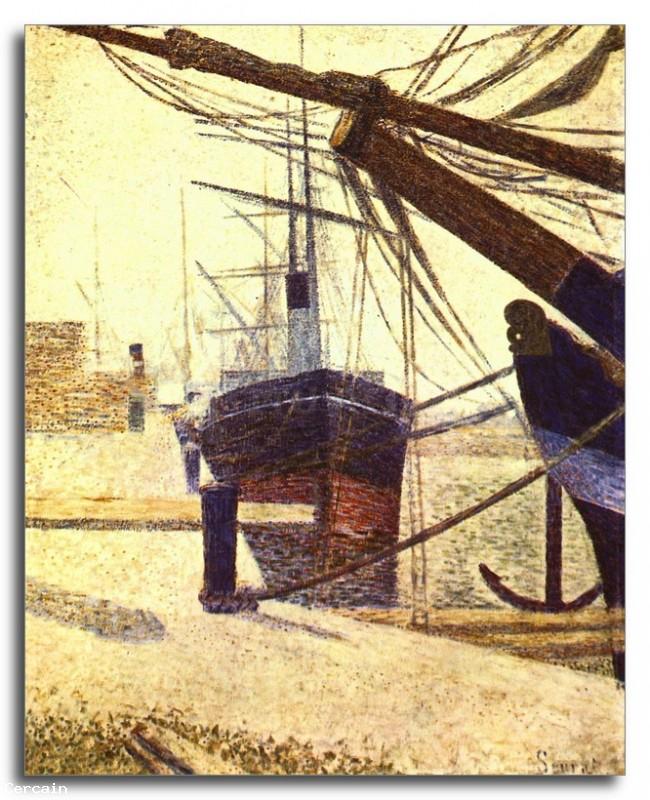 Riproduzione Artistica Porto a Honfleur di Seurat