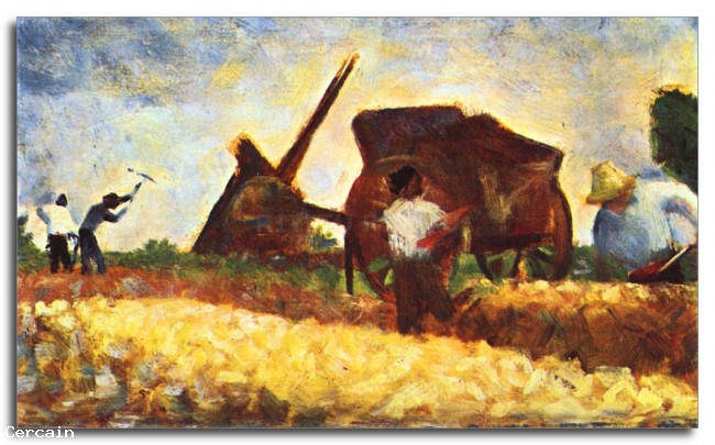 Riproduzione Artistica Il lavoratore campo da Seurat