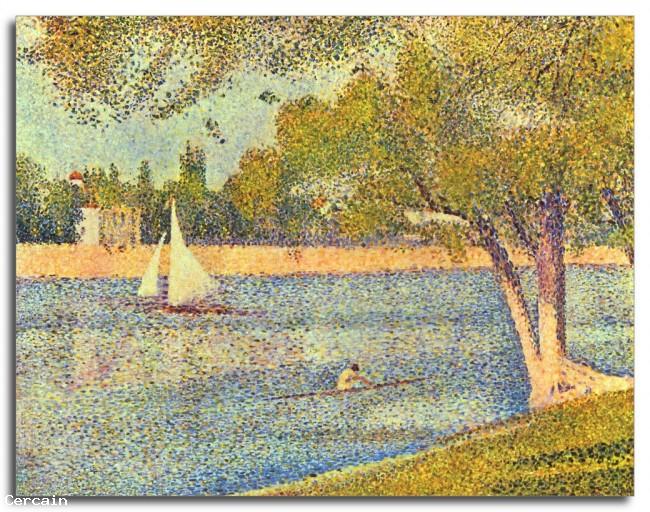 Riproduzione Artistica La Senna alla Grande Jatte Primavera di Seurat