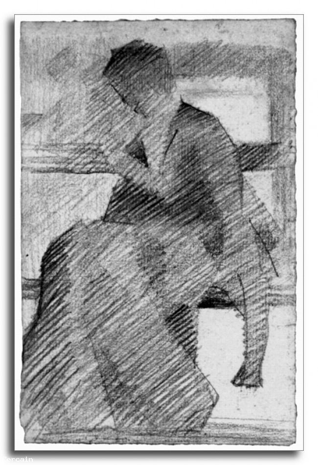 Donna Riproduzione Artistica su una panchina di Seurat