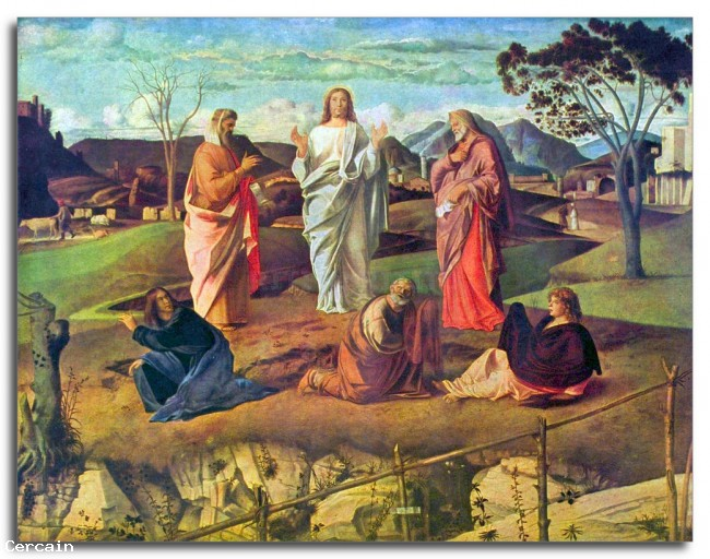 Riproduzione Artistica Trasfigurazione di Cristo di Bellini