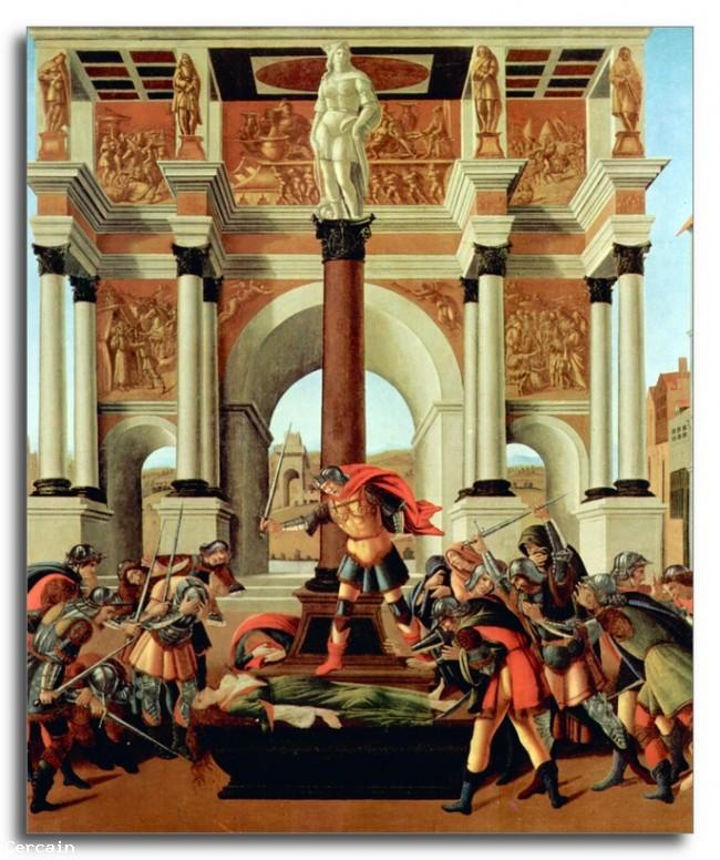 Morte di Lucrezia Riproduzione Artistica di Botticelli
