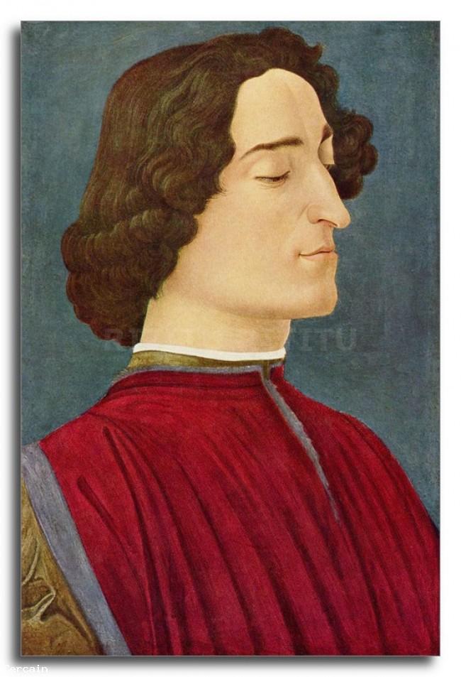 Riproduzione Artistica Ritratto di Giuliano de Medici di Bottice