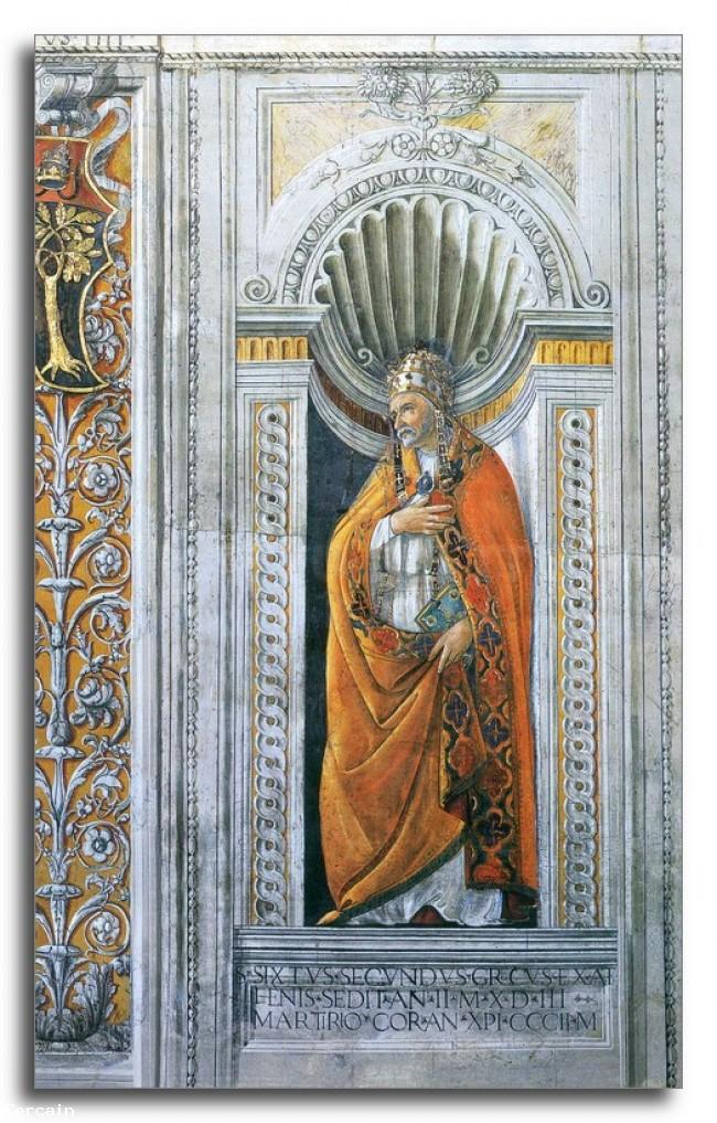 Riproduzione Artistica di San Sisto II di Botticelli