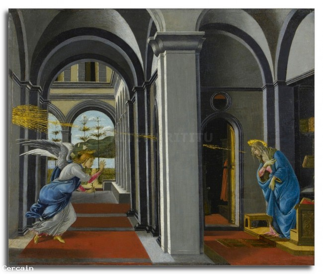 Riproduzione Artistica Il Anunciation da Botticelli