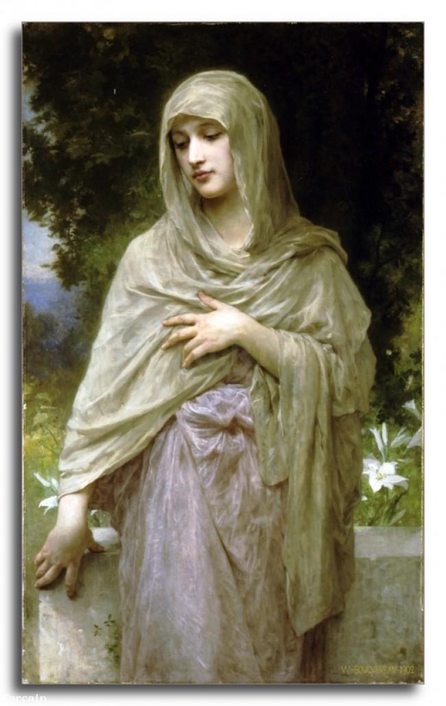 Riproduzione Artistica Modestie da Bouguereau
