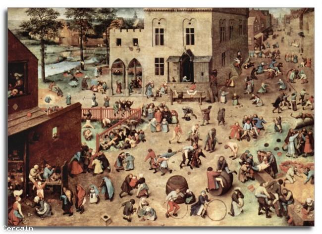Bambino Riproduzione Artistica di gioco di Pieter Bruegel