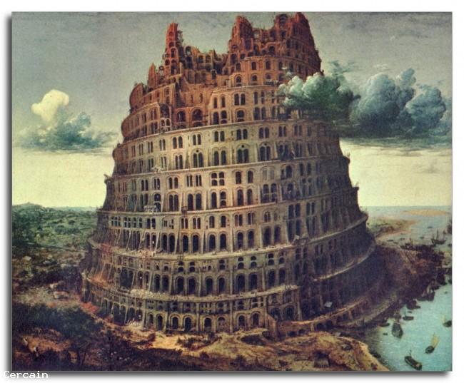 Riproduzione Artistica Torre di Babele 1 di Pieter Bruegel