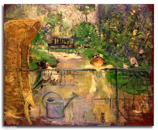 Chair Riproduzione Artistica nel giardino di Morisot