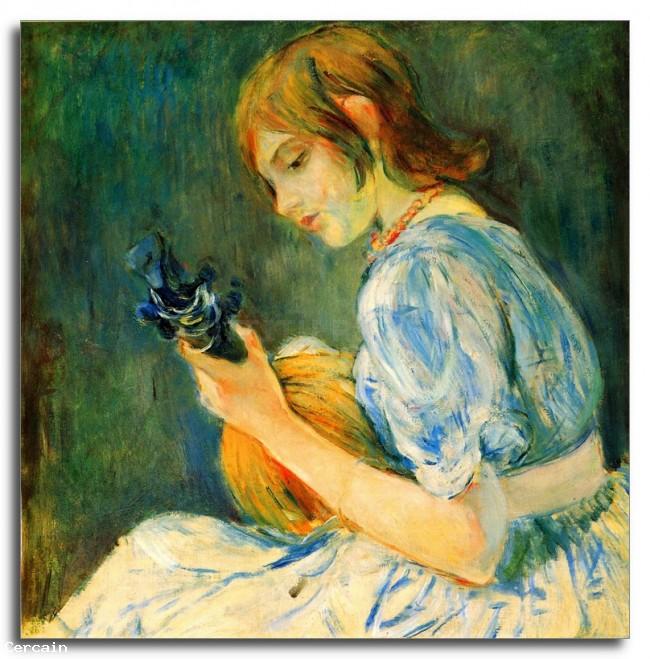 Riproduzione Artistica Il mandolino di Morisot