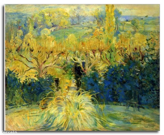 Vista Riproduzione Artistica dalla veranda in Mezy di Morisot