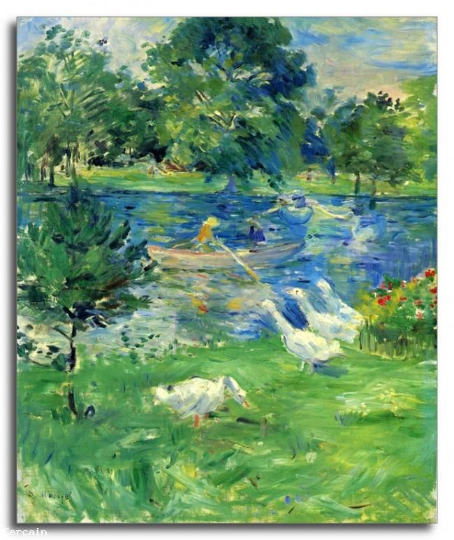 Riproduzione Artistica Veduta di Bois de Boulogne di Morisot