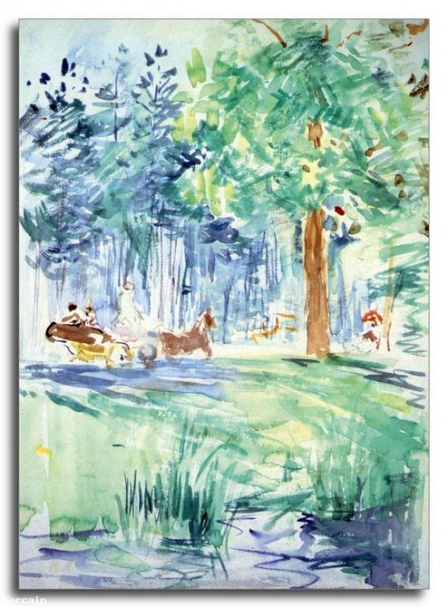 Wagon Riproduzione Artistica al Bois de Boulogne e des poteaux di Mo