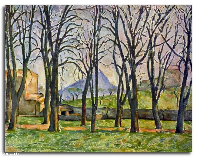 Riproduzione Artistica Castagni a Jas de Bouffan di Cèzanne
