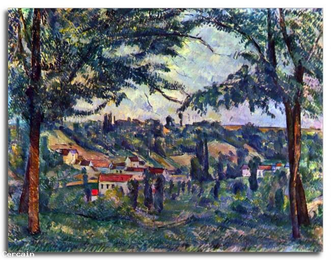 Riproduzione Artistica Le Chateau Noir di Cèzanne