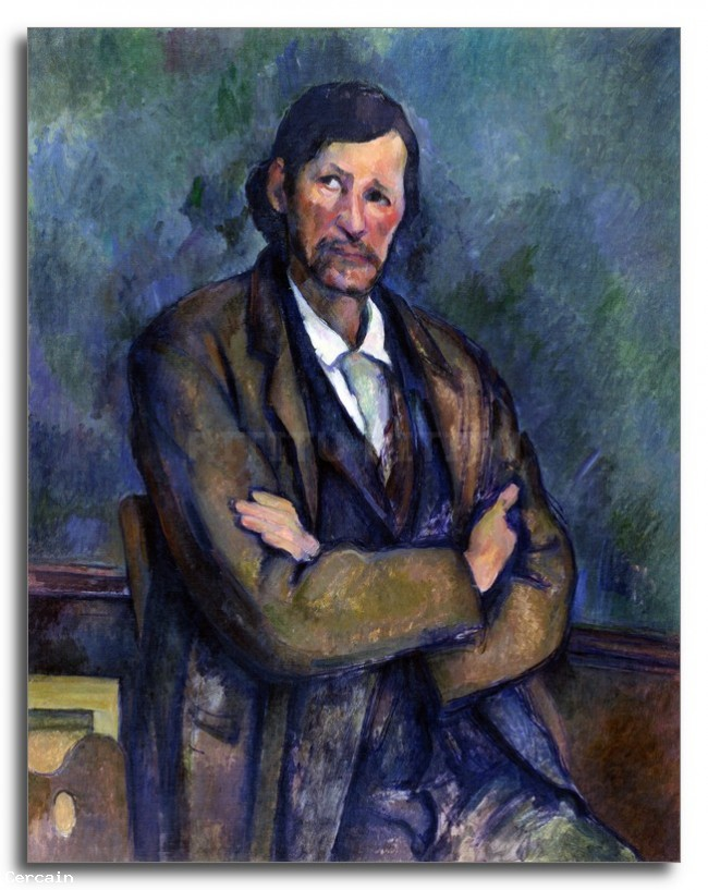Riproduzione Artistica Self Portrait di Cezanne