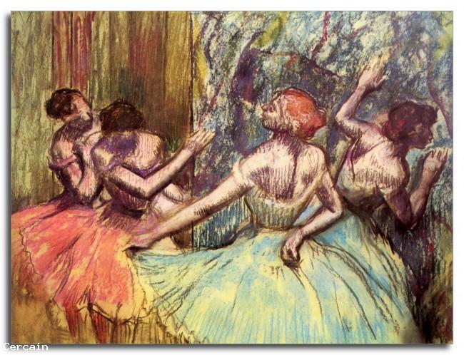 Riproduzione Artistica Quattro ballerini dietro le quinte 13602 di De