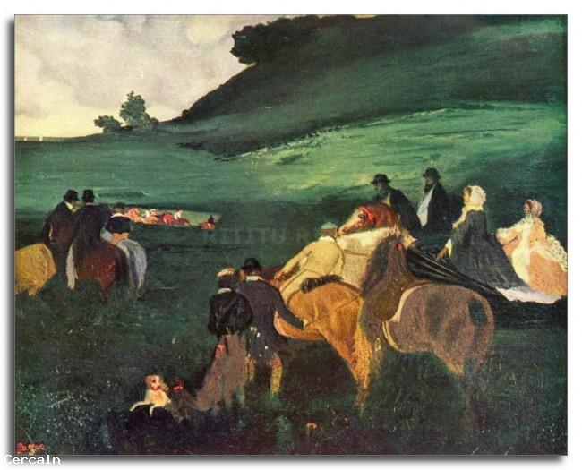 Riders Riproduzione Artistica nel paesaggio di Degas