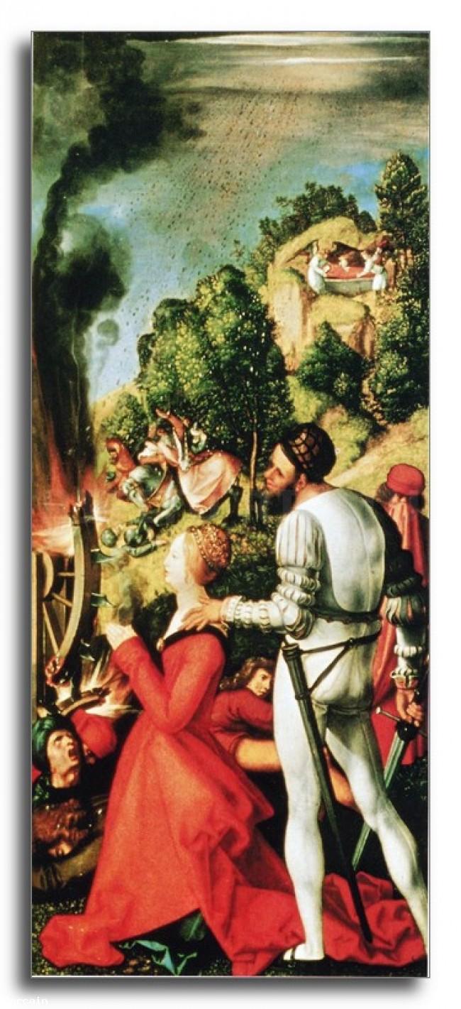 Riproduzione Artistica Martirio di Santa Caterina da Durer