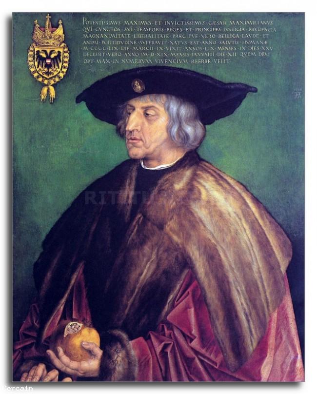 Riproduzione Artistica Ritratto dellimperatore Maximilianby Dure