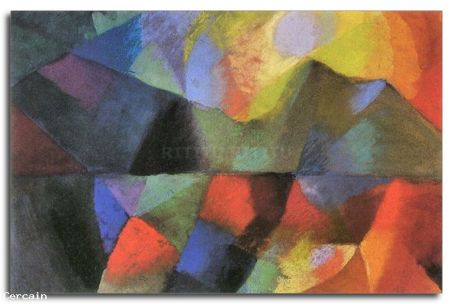 A colori Riproduzione Artistica di August Macke
