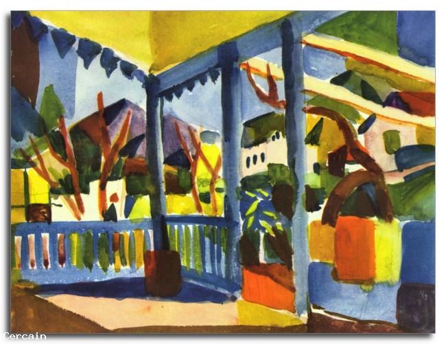 Terrazza Riproduzione Artistica della villa di St Germain di August M