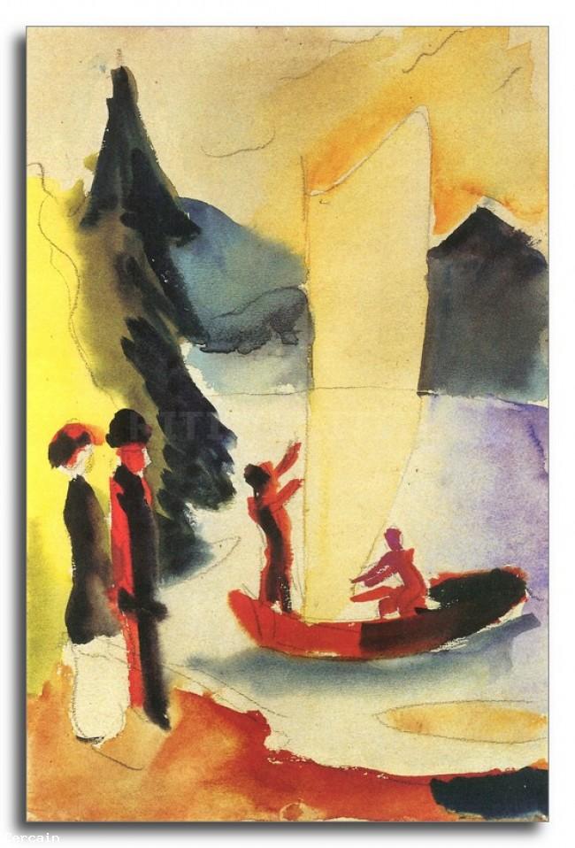 Riproduzione Artistica Sail giallo di August Macke