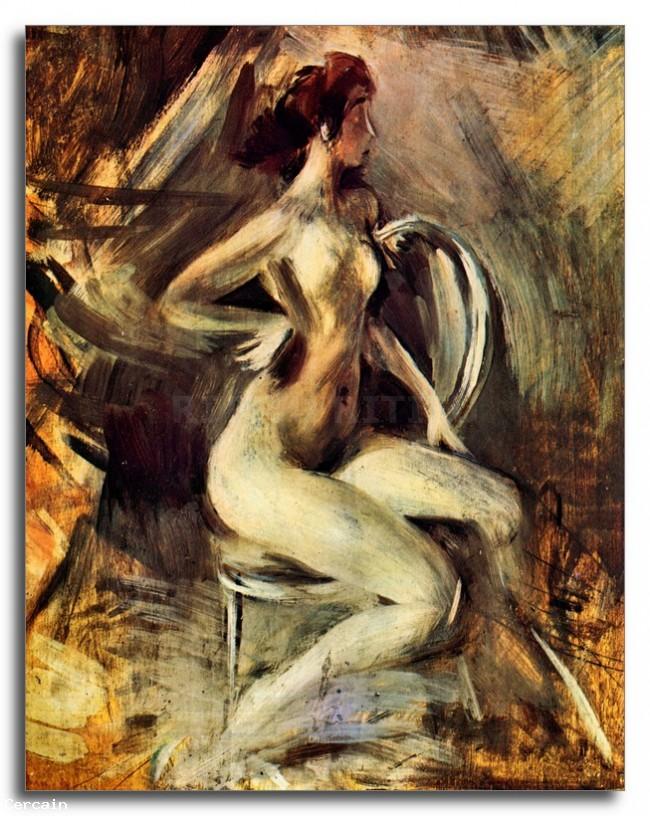 Nudo di fianco a Giovanni Boldini Riproduzione Artistica