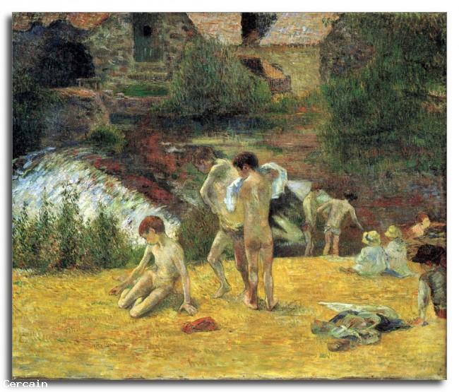 Riproduzione Artistica bagno nel mulino di Bois dAmour di Gaugui