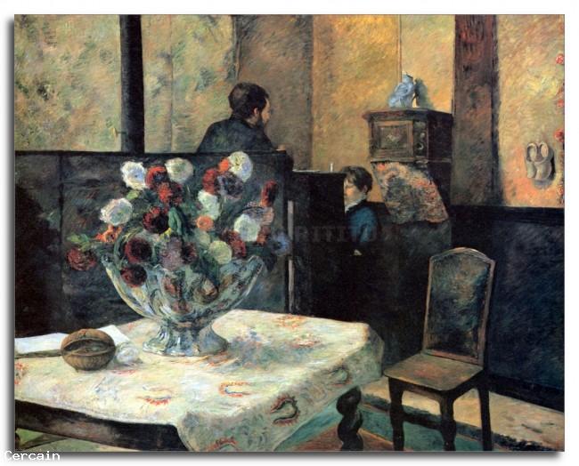 Riproduzione Artistica Interno del Pittore di Rue Carcel da Gauguin