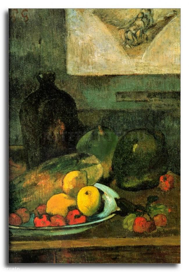 Riproduzione Artistica natura morta fronte Stich da Gauguin