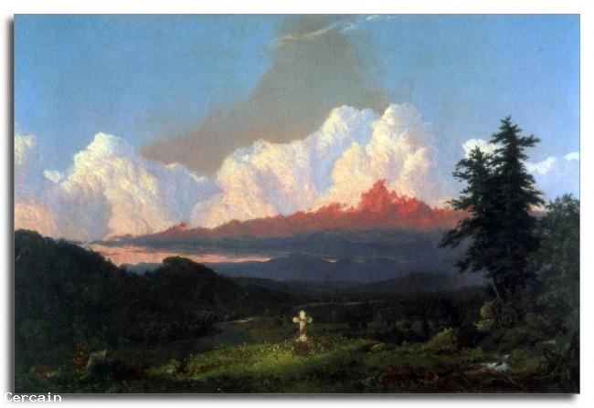 Riproduzione Artistica In memoria di Cole di Frederick Edwin Church