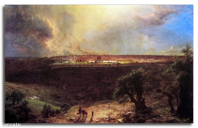 Riproduzione Artistica Gerusalemme dal Monte degli Ulivi di Frederick