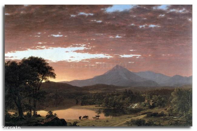 Riproduzione Artistica Monte Ktaadn Katahdin di Frederick Edwin Chur