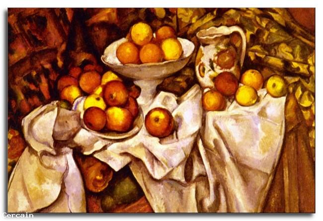 Riproduzione Artistica Mele e arance di Cèzanne