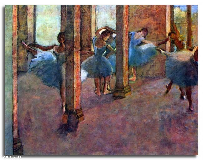 Ballerini Riproduzione Artistica nel foyer di Degas
