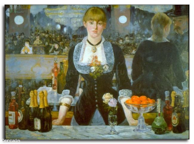 Riproduzione Artistica Folies Bergère di Manet
