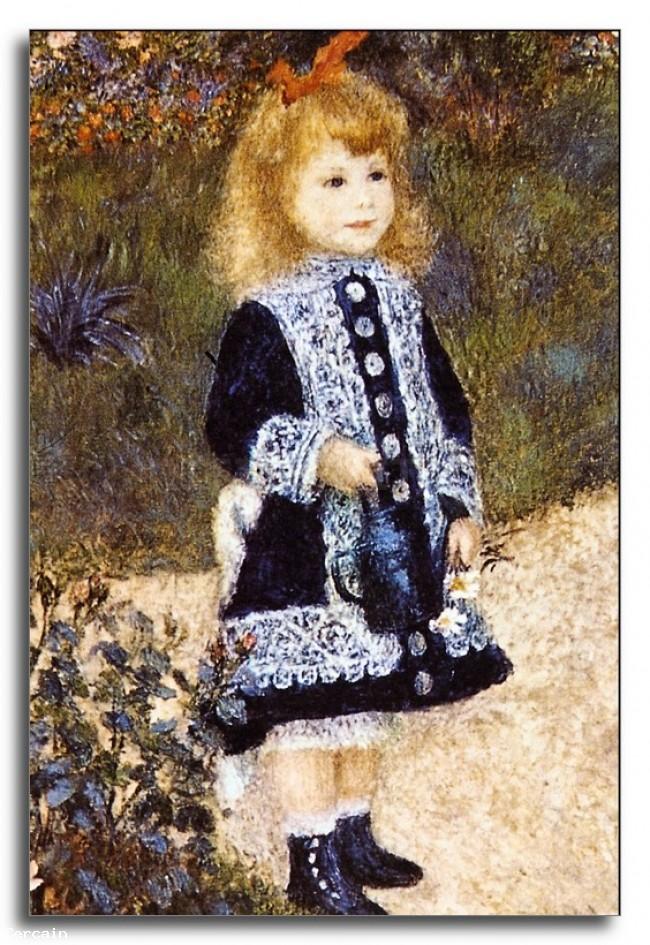 Ragazza Riproduzione Artistica con linnaffiatoio di Renoir